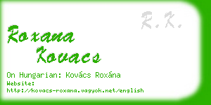 roxana kovacs business card